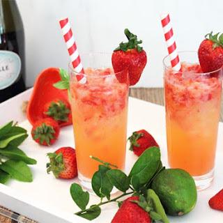 Strawberry Rum Fizz.