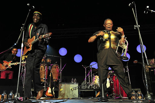 Oliver Mtukudzi and Hugh Masekela entertains music-lovers at the Standard Bank Joy Jazz Festival Sandton Convention Centre in Johannesburg.