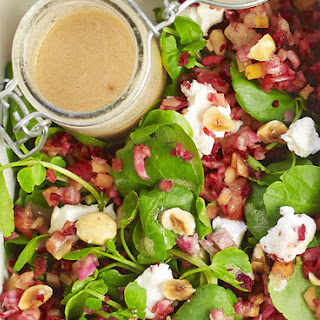 Beetroot Rice Salad With Goat's Cheese And A Hazelnut Dressing