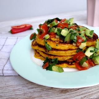 Sweet Potato Pancakes with Avocado Salsa
