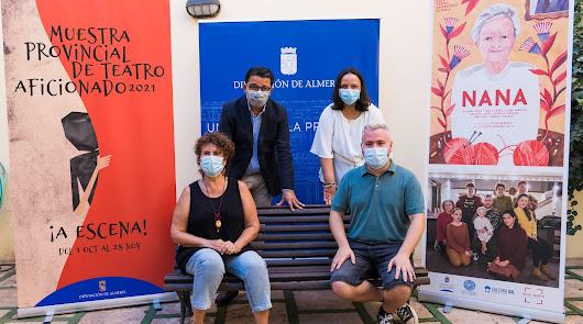 Presentación del Circuito de Teatro Aficionado de Diputación, en el Patio del Mandarino.