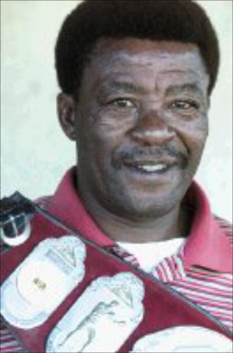 HONOURED: Peter 'Terror' Mathebula. Pic. Antonio Muchave. 03/03/2001. © Sowetan.