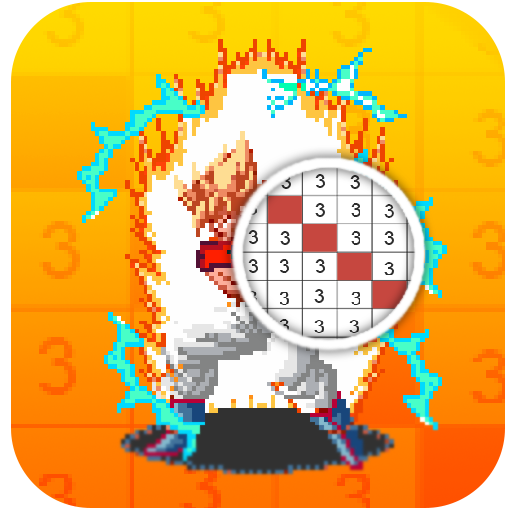 color by number DBZ super pixel art Icon