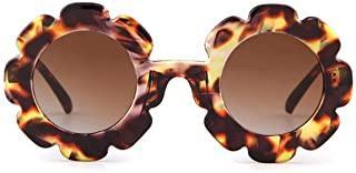 Sunglasses for Kids Round Flower Cute Glasses