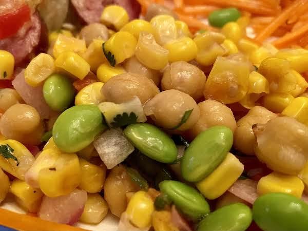 Corn, Edamame And Bean Salad