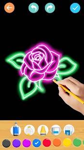 Draw Glow Flower