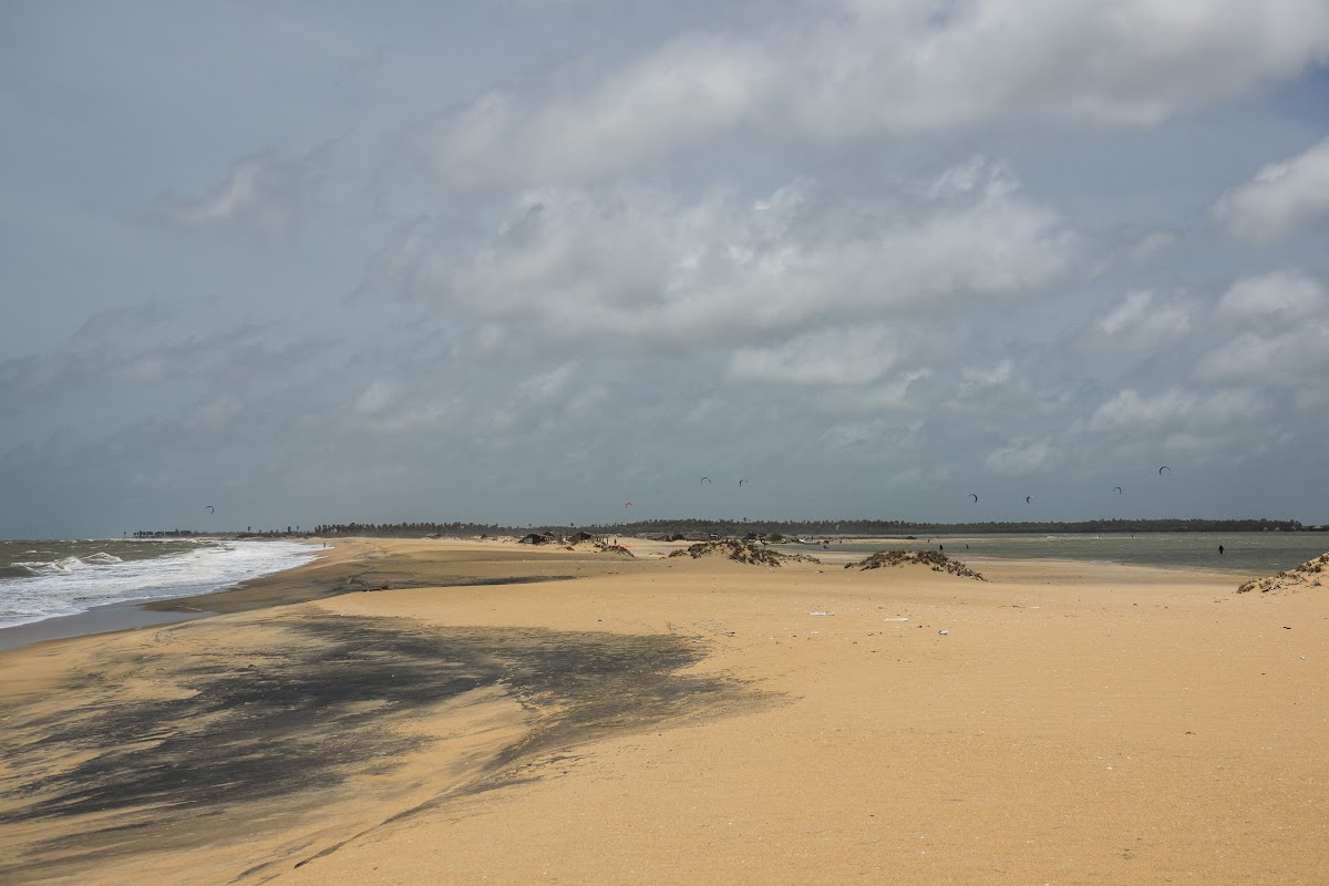 Sri. Lanka, Kalpitiya, Kitesurfing Spots. View of Ocean and Kalpitiya Lagoon