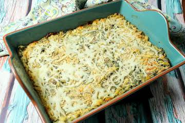 Chicken, Spinach, and Orzo Casserole