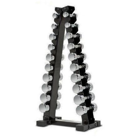 Hantelställ pyramid för Hex- och kromhantlar 1-10 kg
