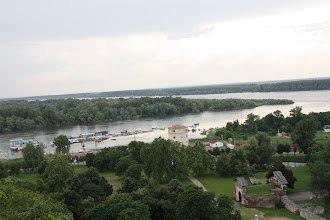 Photo: Day 81 - View from Belgrade Fortress of the River Sava Flowing in to the River Danube
