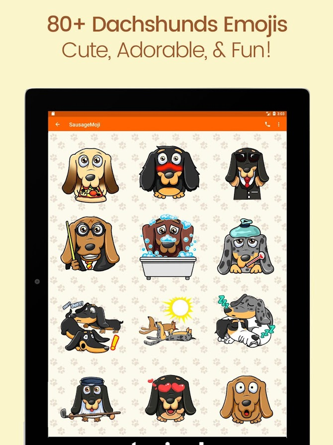 SausageMoji Stickers Android 7