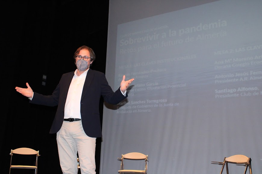 El presentador del acto, David Baños.