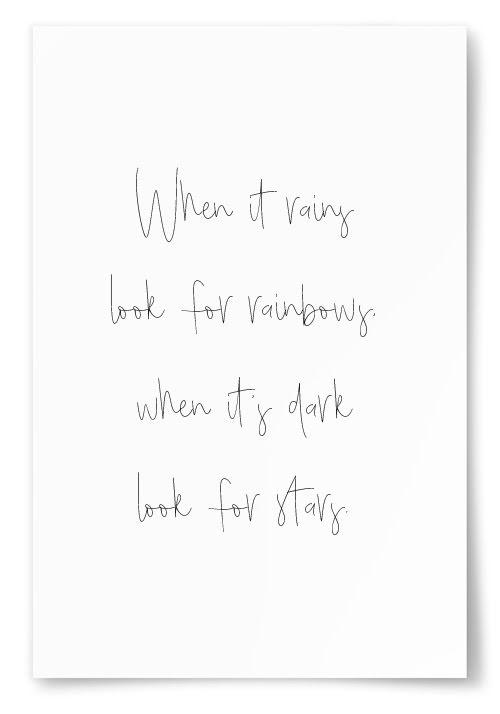 "Poster ""When it rains..."""