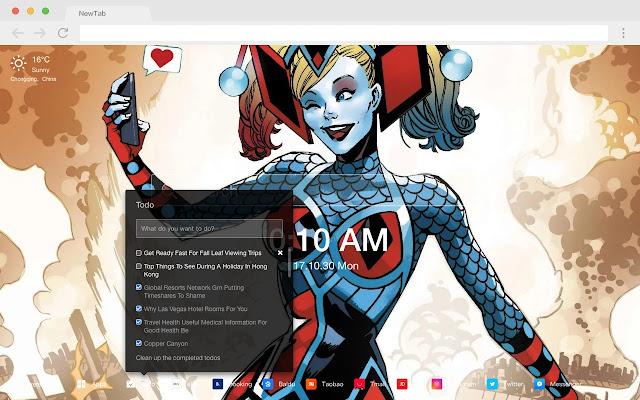 Harley Quinn Pop DC HD New Tabs Theme