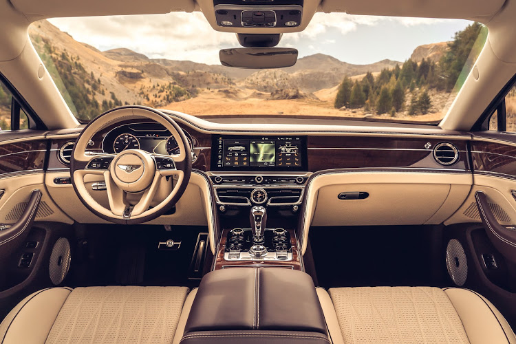 There is of course lots of tradition and craftsmanship in the Flying Spur, but also technology too.