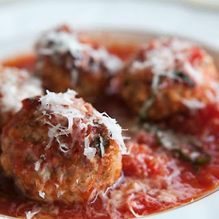 Meatballs with Ricotta in Tomato Sauce.