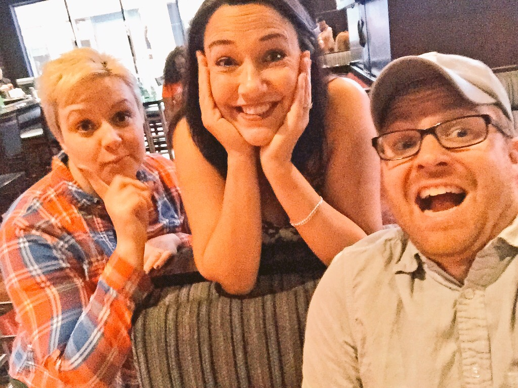 Jess, Michelle and Dave Selfie
