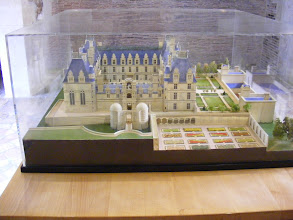 Photo: A model of the Château as it appeared in the Duke's time. The present state of the property includes many alterations made in the mid-19th century.