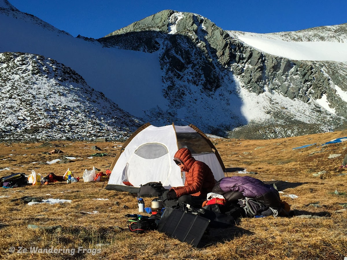 Camping gear real field test in the Altai Mountains, Mongolia