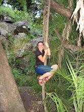 Photo: Holly playing Tarzan...