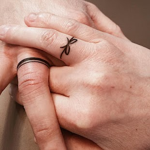 Ring Tattoo - Couple ring tattoo - náhled