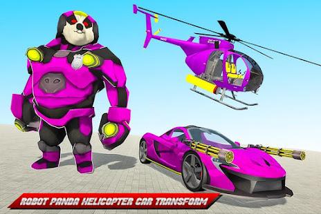 Panda Robot Helicopter Transform Battle Games for PC-Windows 7,8,10 and Mac apk screenshot 2