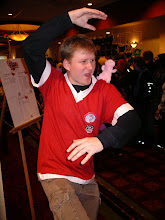 Photo: The (beloved) Nemesis! Brian, of the digital game room demonstrates... something...