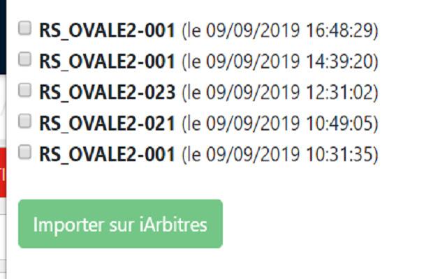 Extension iArbitres