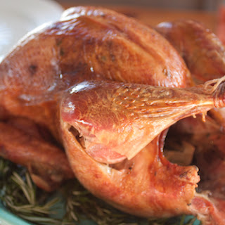 Brined and Roasted Thanksgiving Turkey.