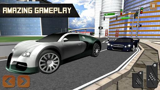 激烈的汽车驾驶3D:城市