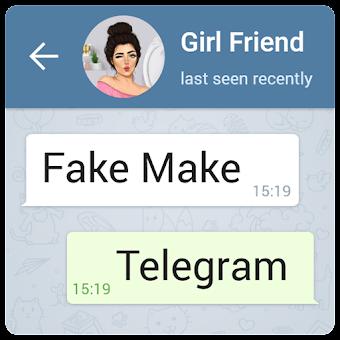fake chat telegram-Fake conversation (fake make)