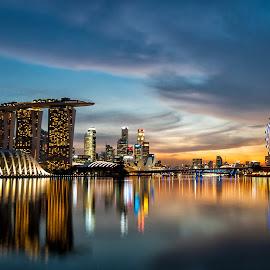Singapore Skyline by Mario Wibowo - City,  Street & Park  Skylines ( studio, mario, 2013, kelapa gading, cityscape, trip, travel, wibowo, nikon, mwp, singapore )