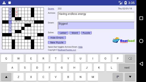 Daily Crosswords 2.0 Mod screenshots 2