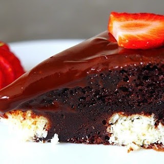 Chocolate Cake with Coconut Cheese Balls Recipe