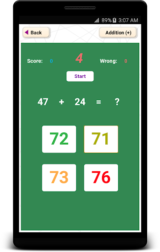 Math quiz Addition and Subtraction Multiplication  trampa 2