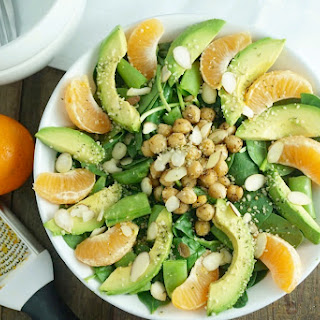 Warm Chickpea & Satsuma Orange Salad
