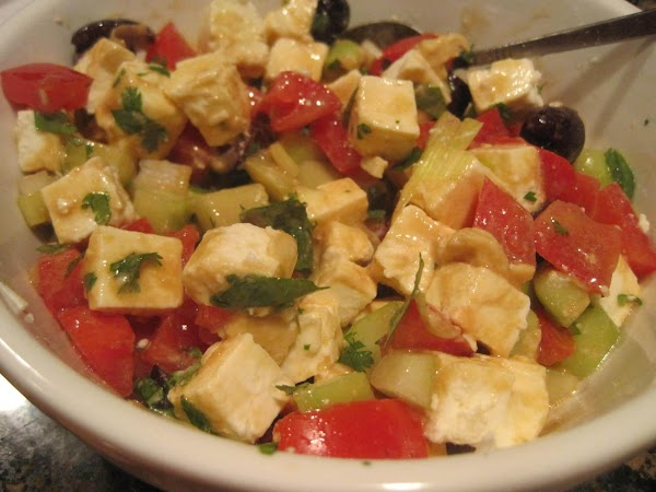 While falafels are baking, prepare your salad and make the dressing. Combine all dressing...