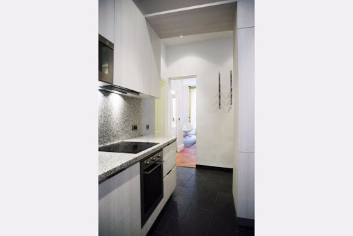 Kitchen at 2 Bedroom Apartment in Louvre Near Seine