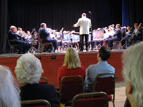 Photo: The Taverham Brass Band performs at the Dereham Festival.