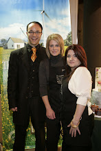Photo: President of Eminence Organic Skin Care Boldijarre Koronczay and our local skincare gurus Lisa and Elizabeth.