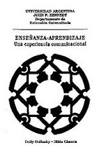 "Photo: Dolly Dolinsky and Hilda Chanca, Enseñanza-Aprendizaje: Una Experiencia Comunicacional, Buenos Aires: Universidad Argentina John F. Kennedy, 1990, featuring Mariano Akerman's ""Mandala,"" made the same year.