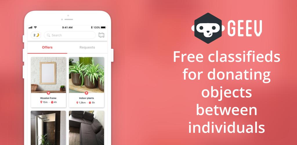 download geev don et r cup d objets apk latest version app for android devices. Black Bedroom Furniture Sets. Home Design Ideas