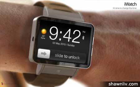 Apple iWatch - slide to unlock