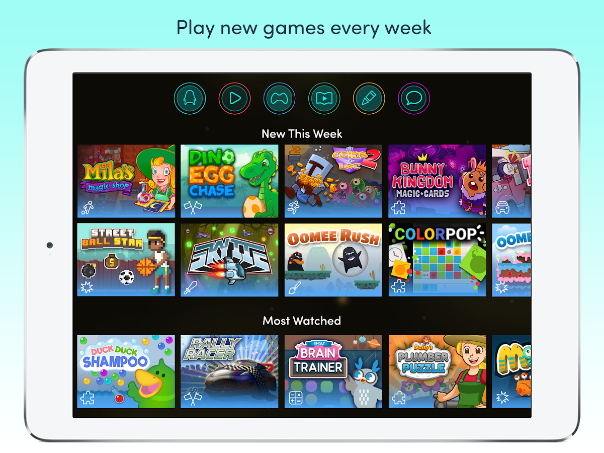 Azoomee: Kids' Games, TV, Safe Chat & More- screenshot