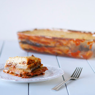 Vegan Moussaka with Cashew Cream.
