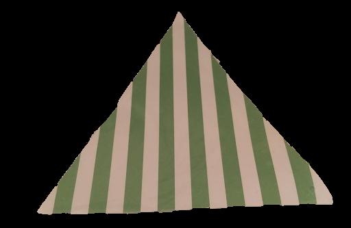 banderines verde rayas para decorar