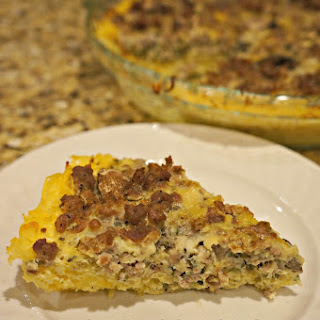 Spaghetti Squash Crusted Quiche