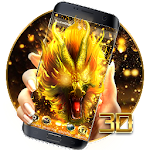 3D gold fire dragon theme Icon