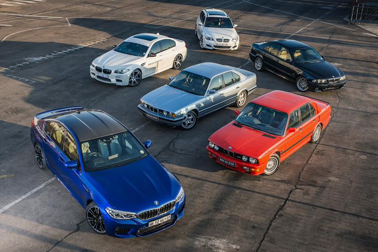 The BMW M5 through the ages.