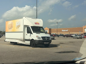 Photo: We went to our favorite store Walmart. I laughed when I saw the Frito Lay truck hoping that was a sign that the shelves were fully stocked!